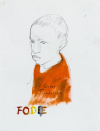 Fodie, charcoal and oil paint on paper, 2020