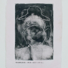 Epiphanies (Rosy Lamb/Gil Soltz), monotype and typing on paper, 6.5 x 9 cm, edition 1/1, 2020 -
