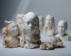 sculpted portraits of children who live in the residence of St Eloi in Chilly Mazarin, France